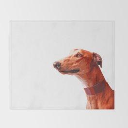 Orange Greyhound. Pop art dog portrait Throw Blanket