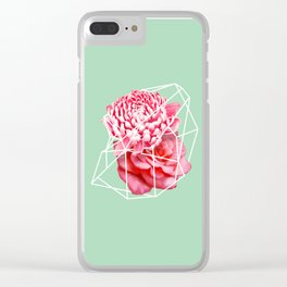 Floral Voronoi Clear iPhone Case
