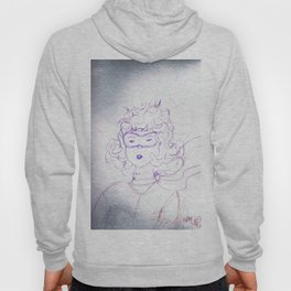 Determination of a young Amelia Earhart,colored pencil sketch Hoody