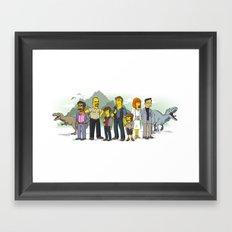 Jurassic World Simpsonized Framed Art Print