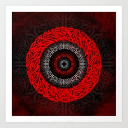 Bright red tunnel Art Print