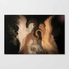 Little Family Of Angels, Abstract, by Sherriofpalmsprings Canvas Print