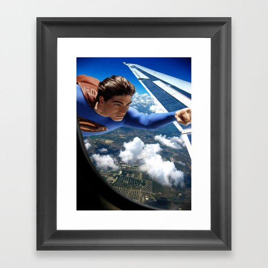 It's a bird, It's a plane... Framed Art Print