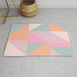 Sweet Candy Pastel Shapes Rug