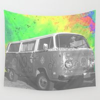 hippie Wall Tapestries featuring Hippie Hollow by Calepotts