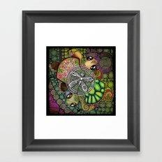 Baby Turtle Art Blend Framed Art Print