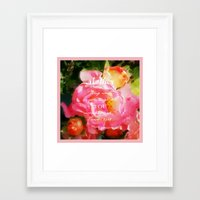 verse Framed Art Prints featuring Roses - Verse by Anita Faye