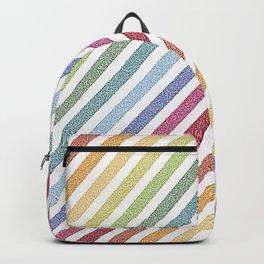 rainBow Pixel Stripes Backpack