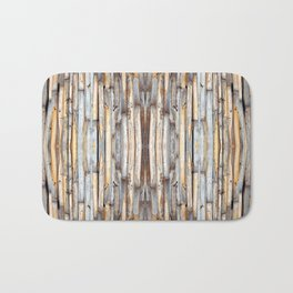fence at the house of bamboo stems Bath Mat