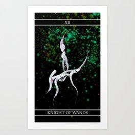 A Tarot of Ink 12 Knight of Wands Art Print