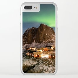 Northern Lights Over Hamnøy Clear iPhone Case