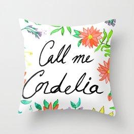 Call Me Cordelia- Red Flowers Throw Pillow