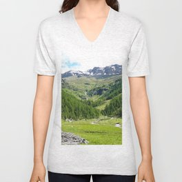 Alpes in summer Unisex V-Neck