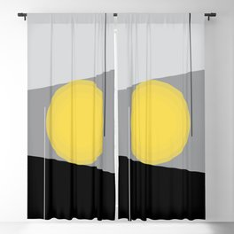Keeping It Together - Abstract - Gray, Black, Yellow Blackout Curtain