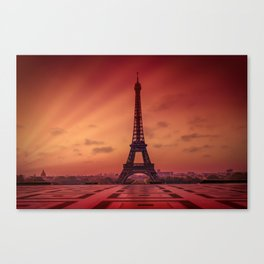 Eiffel Tower at Sunrise Canvas Print
