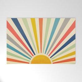Sun Retro Art III Welcome Mat
