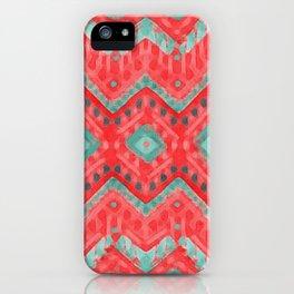 itzel - watermelon + teal iPhone Case