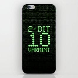 2-Bit Varmint / Binary vermin team code iPhone Skin