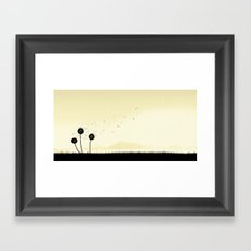 The violence of the wind Framed Art Print