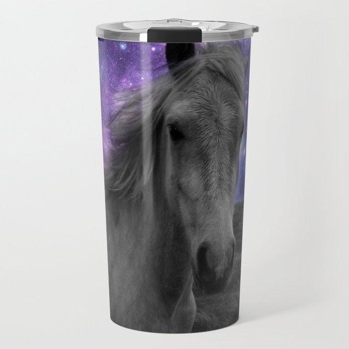 Horse Rides & Galaxy skies muted Travel Mug