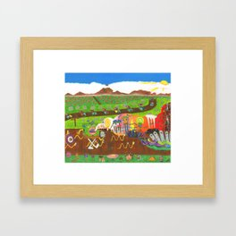 Regurgitated Storytelling Framed Art Print