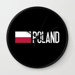 Poland: Polish Flag & Poland Wall Clock