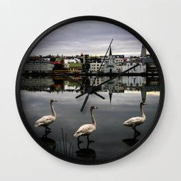 Iceland Geese Wall Clock
