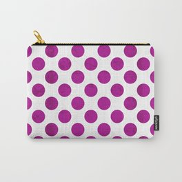 Fuchsia Polka Dot Carry-All Pouch
