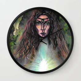 Forest Fairy Wall Clock