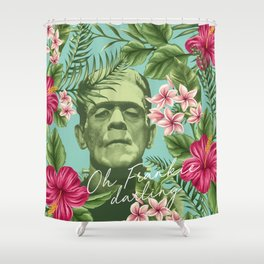 Oh Frankie darling - The Franktiki Shower Curtain