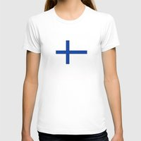 finland T-shirts featuring Finland country flag by tony tudor