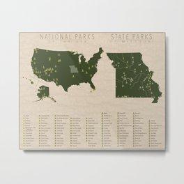 US National Parks - Missouri Metal Print