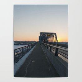 Valentine's bridge sunset Poster