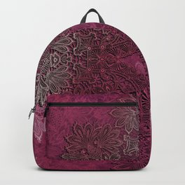 lace weave in red wine Backpack