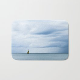 Sea, Lighthouse & Stormy clouds Bath Mat
