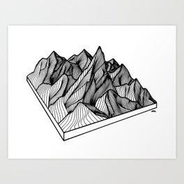 Peaking Through Art Print