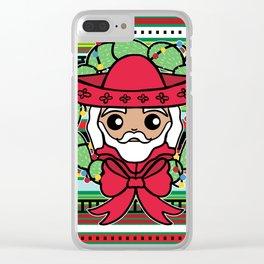 Santa Claus Serape Clear iPhone Case