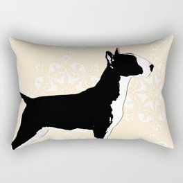 English Bull Terrier Dog in black Rectangular Pillow