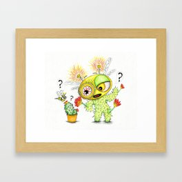 Creepy Cacto-Bee Framed Art Print