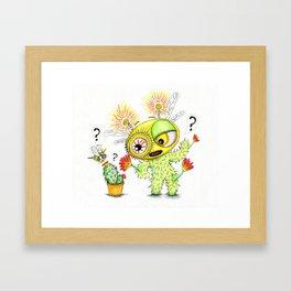 Creepy Cacto-Bee Framed Art Print