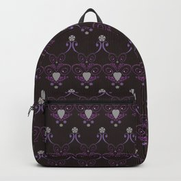 Love hearts seamless pattern in dark colors Backpack