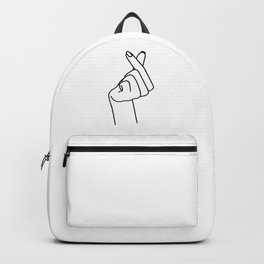 Love Finger Snap Backpack