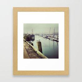 Foggy Harbour Framed Art Print