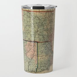 Vintage Massachusetts Railroad Map (1879) Travel Mug