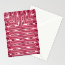 Art Deco Pink Spear Pattern Stationery Cards