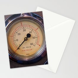 control - vintage industrial dials and gauges Stationery Cards