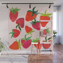 Strawberry Harvest Wall Mural