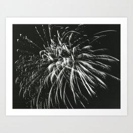 Fireworks in Summer Art Print