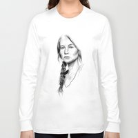 katniss Long Sleeve T-shirts featuring Katniss Everdeen by Cécile Pellerin