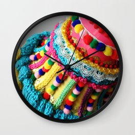 Watering Pompoms (detail) Wall Clock